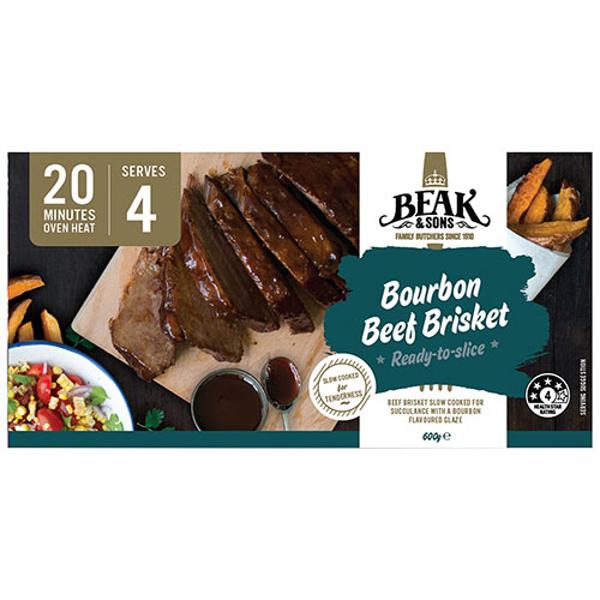 Beak & Sons Beef Brisket Bourbon prepacked 600g