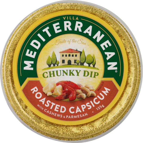 Mediterranean Roasted Capsicum With Cashews & Parmesan Chunky Dip 135g