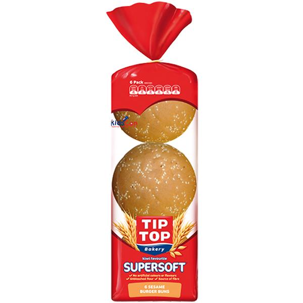 Tip Top Supersoft Sesame Burger Buns 6ea