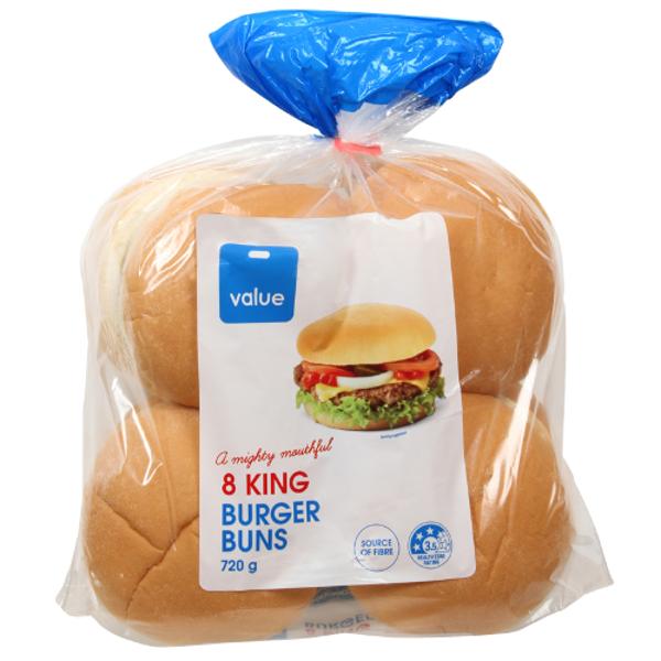 Value King Burger Buns 8ea