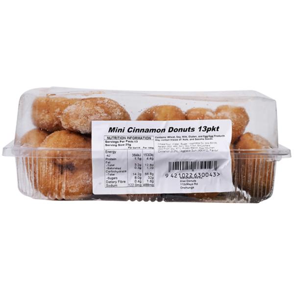 Kiwi Donuts Mini Cinnamon Donuts 13ea