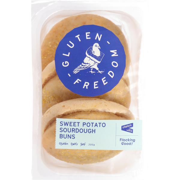 Gluten Freedom Sweet Potato Sourdough Buns 300g