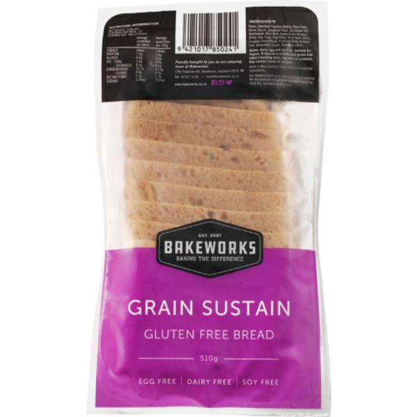 Bakeworks Gluten Free Grain Sustain Bread 510g