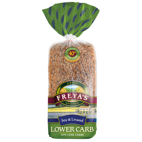 Freya's Lower Carb Soy & Linseed Bread 750g