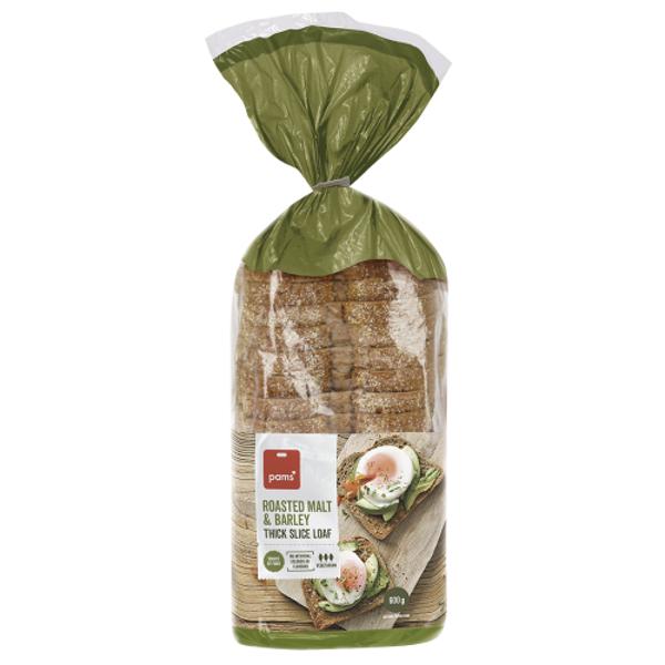 Pams Roasted Malt & Barley Bread 600g