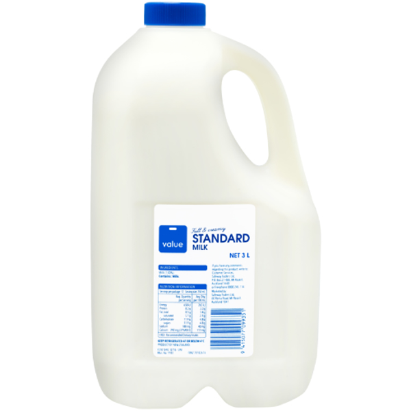 Value Standard Milk 3l
