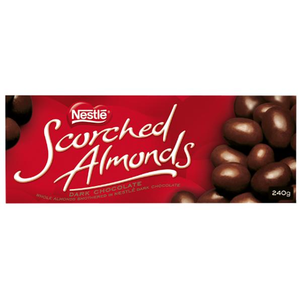 Nestle Dark Chocolate Scorched Almonds 240g