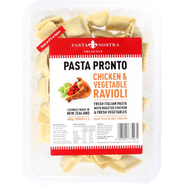 Pasta Nostra Chicken & Vegetable Ravioli 400g