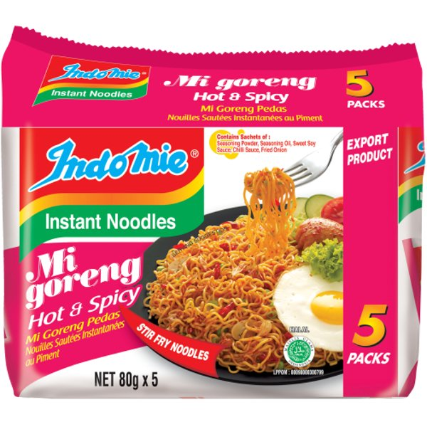 Indomie Mi Goreng Hot & Spicy Instant Noodles 5pk