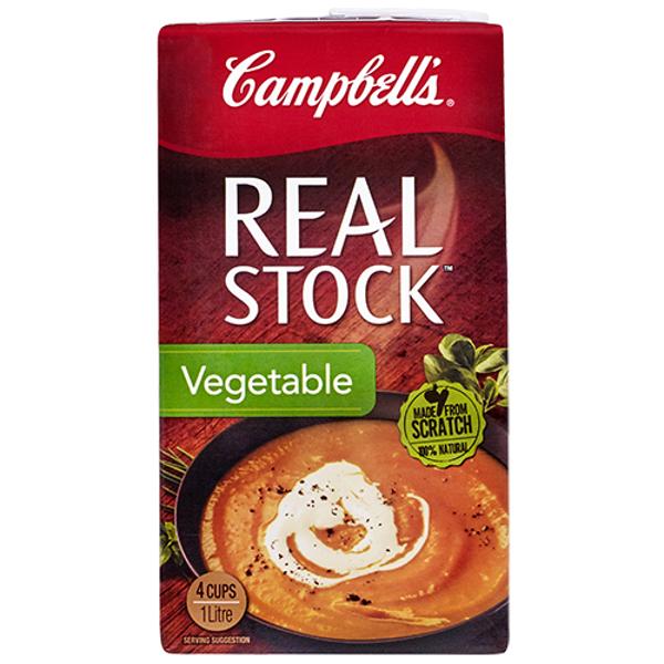 Campbell's Real Stock Liquid Vegetable carton 1l