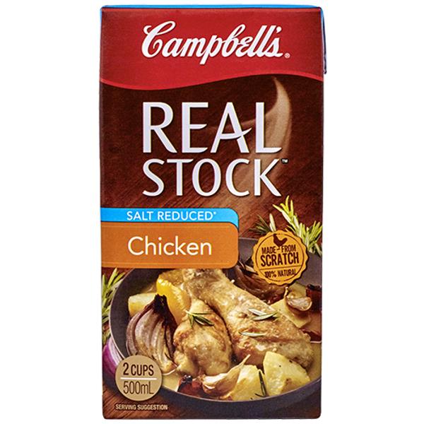 Campbell's Real Stock Liquid Chicken Salt Reduced carton 500ml