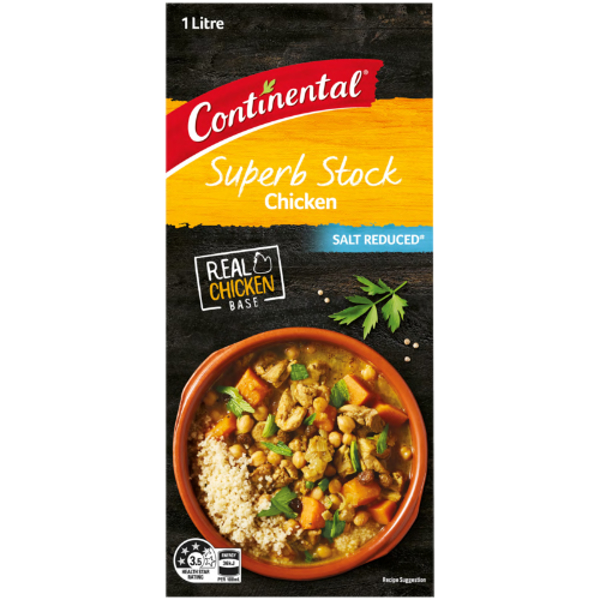 Continental Salt Reduced Chicken Superb Stock 1l