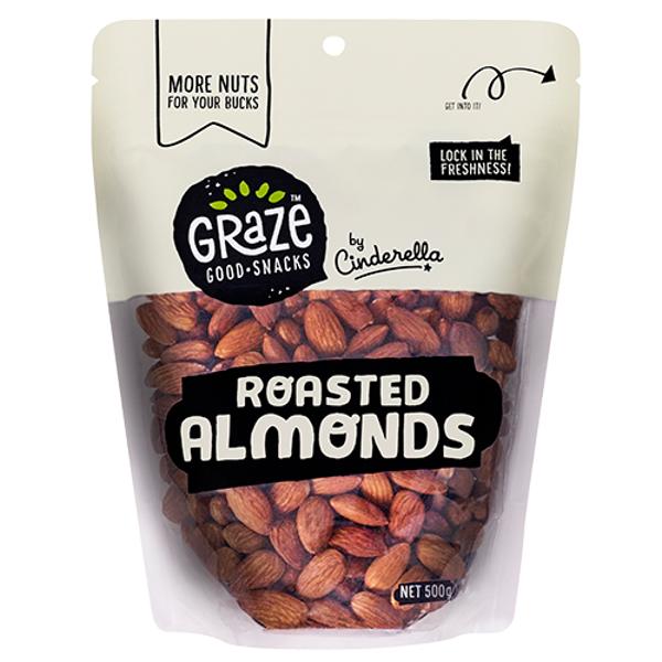 Graze Roasted Almonds 500g