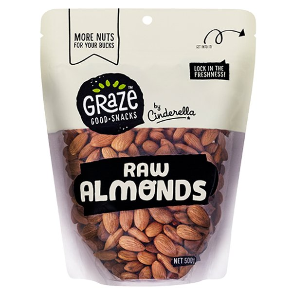 Graze Raw Almonds 500g