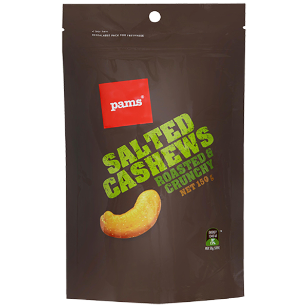 Pams Roasted & Salted Cashews 150g