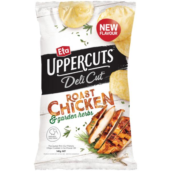 Eta Uppercuts Deli Cut Roast Chicken & Garden Herbs Potato Chips 140g