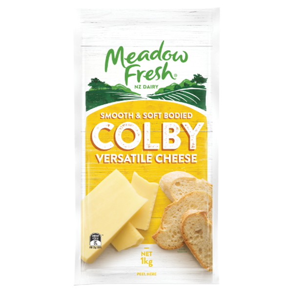Meadow Fresh Colby Cheese 1kg