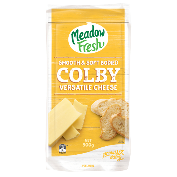 Meadow Fresh Colby Cheese 0.5kg