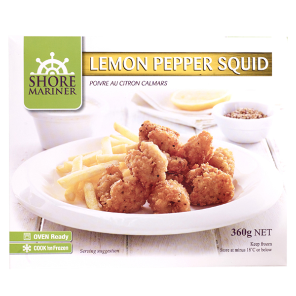 Shore Mariner Lemon Pepper Squid 360g