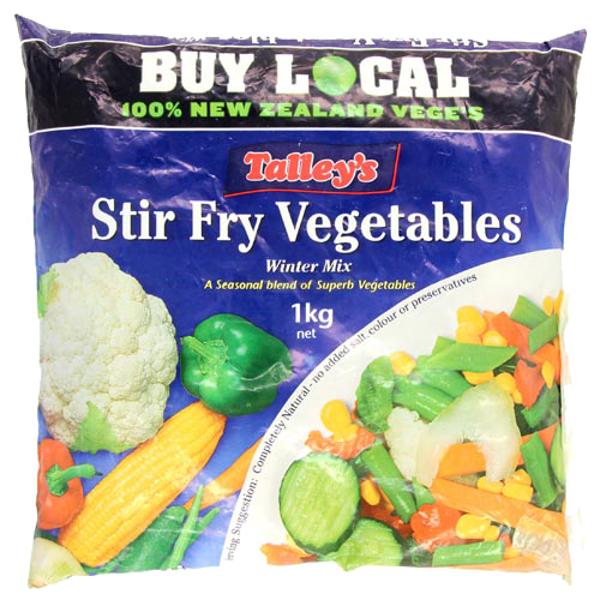 Talley's Stir Fry Vegetables Winter Mix 1kg