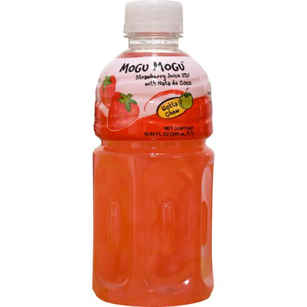 Mogu Mogu Strawberry Juice With Nate De Coco 320ml
