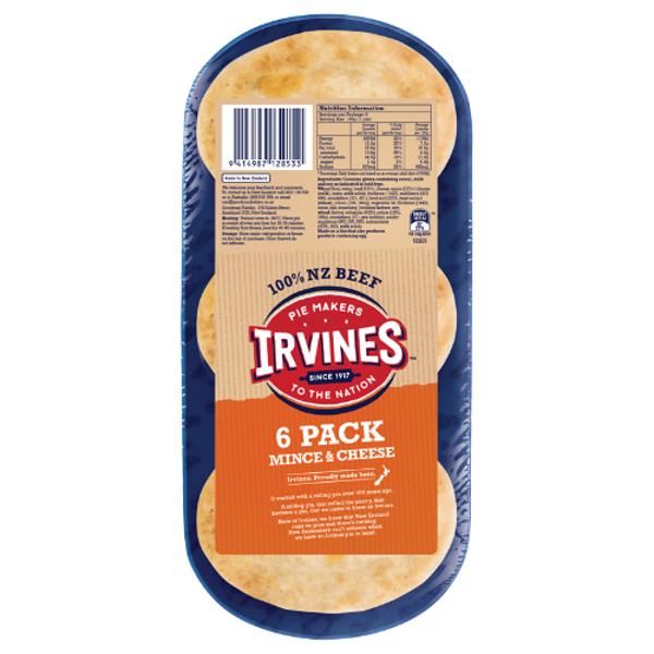 Irvines Original Mince & Cheese Pies 6ea