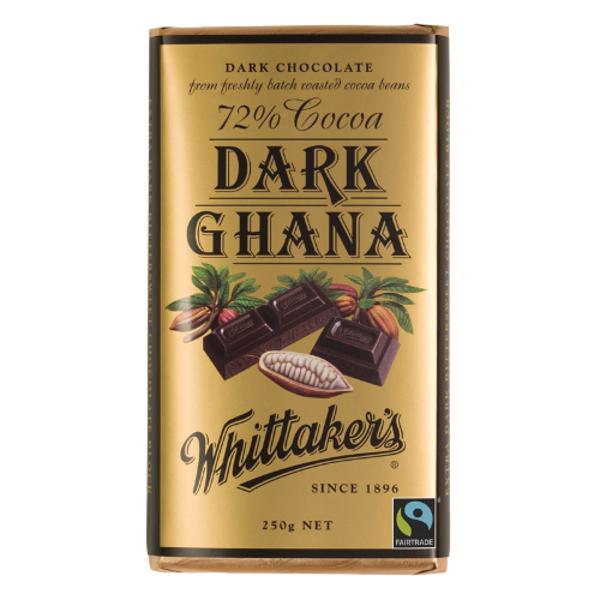 Whittakers Dark Ghana 72% Cocoa Dark 250g
