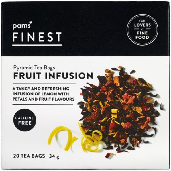 Pams Finest Fruit Infusion Pyramid Tea Bags 20ea