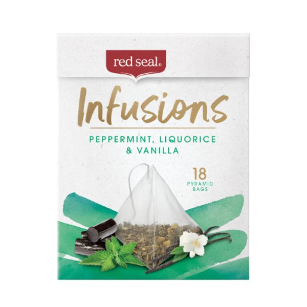Red Seal Infusions Peppermint Licorice & Vanilla Tea Bags 18ea