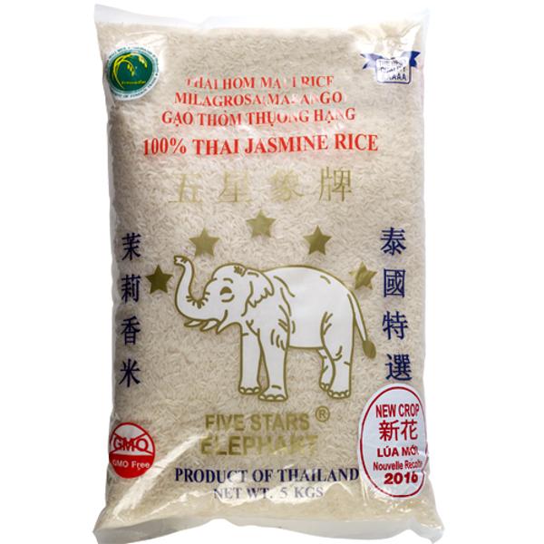 Five Stars Elephant Jasmine Rice 5kg
