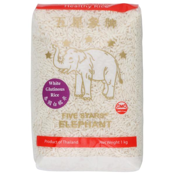 Five Stars Elephant White Glutinous Rice 1kg