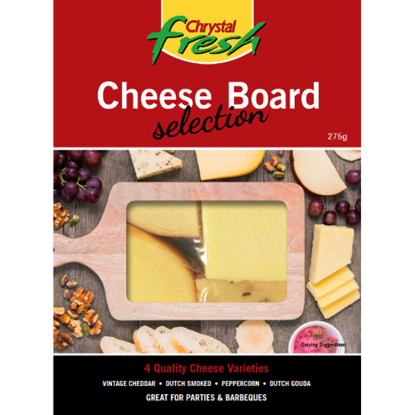 Chrystal Fresh Cheese Board Selection 275g