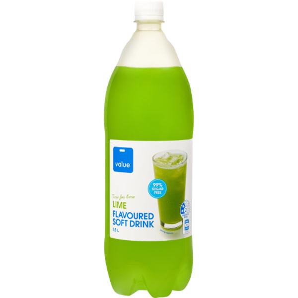 Value Lime 99% Sugar Free Soft Drink 1.5l