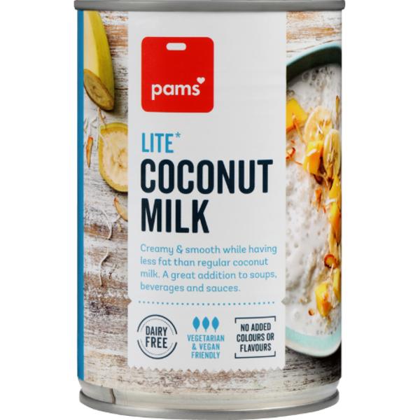 Pams Lite Coconut Milk 400ml