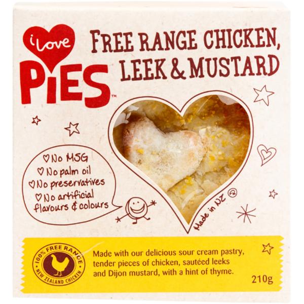 I Love Pies Free Range Chicken Leek & Mustard Pie 210g