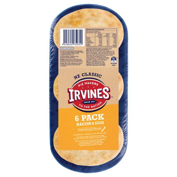 Irvines Original Bacon & Egg Pie 6ea