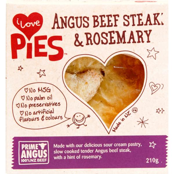 I Love Pies Angus Beef Steak & Rosemary Pie 210g