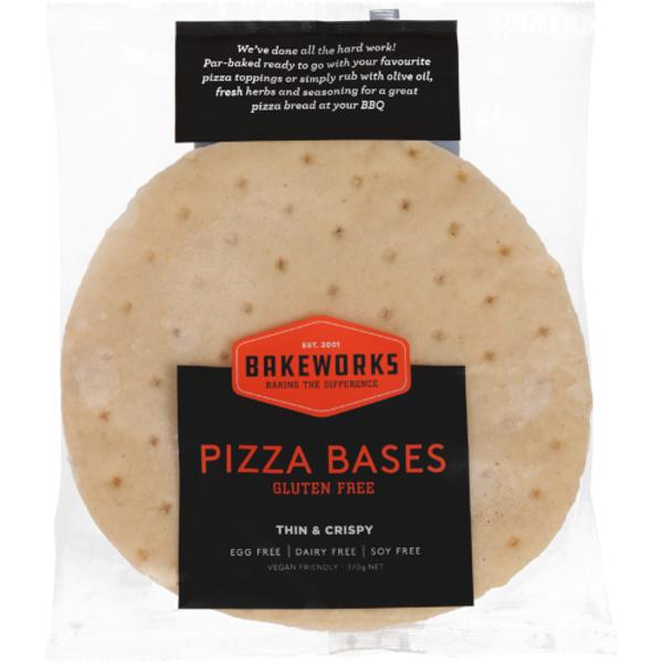 Bakeworks Gluten Free Pizza Bases 2pk