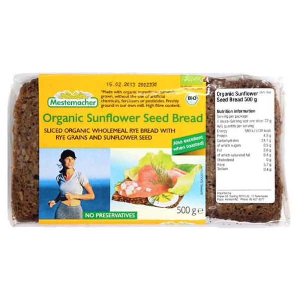 Mestemacher Organic Sunflower Seed Bread 500g