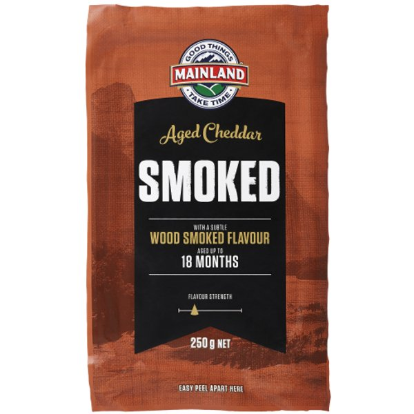 Mainland Smoked Cheddar Cheese 250g