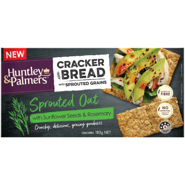 Huntley & Palmers Sprouted Oat Sunflower Seeds & Rosemary Cracker Bread 180g