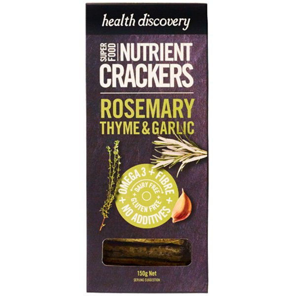 Health Discovery Rosemary, Thyme & Garlic Nutrient Crackers 150g