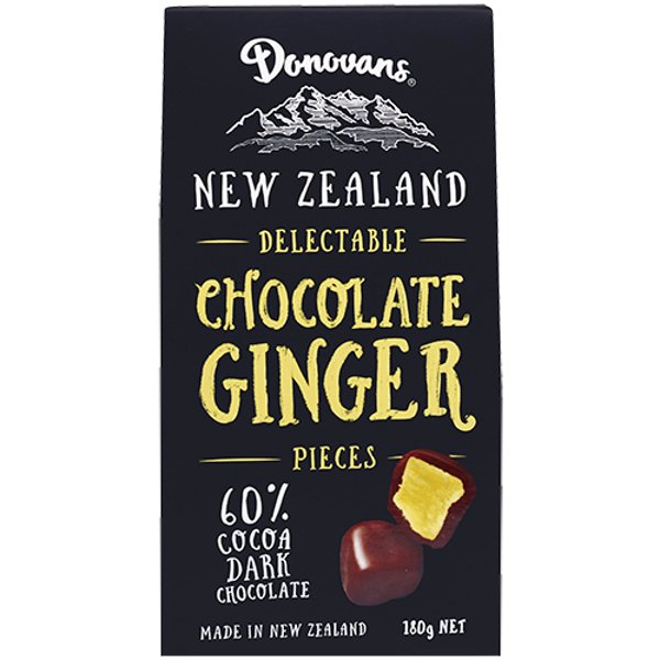 Donovans Delectable Dark Chocolate Ginger Pieces 180g