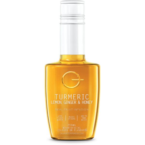 Quarterpast Turmeric Lemon Ginger & Honey Real Fruit Infusion 250ml