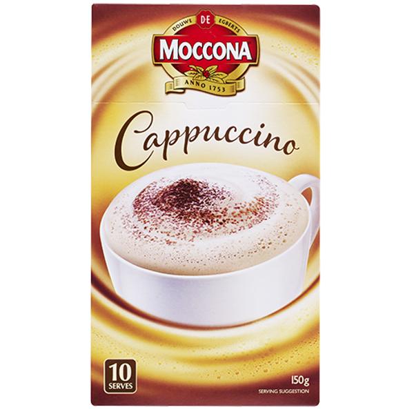 Moccona Cafe Cappuccino Coffee 10pk