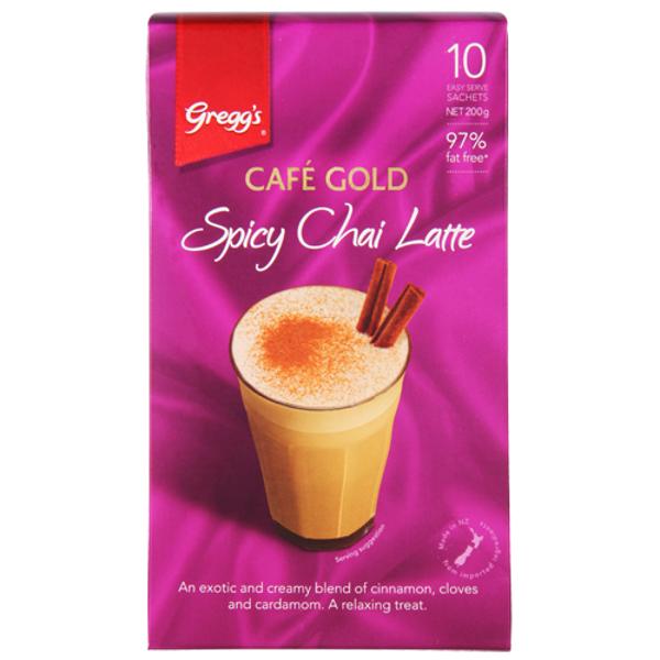 Gregg's Greggs Cafe Gold Spicy Chai Latte Sachets 10pk