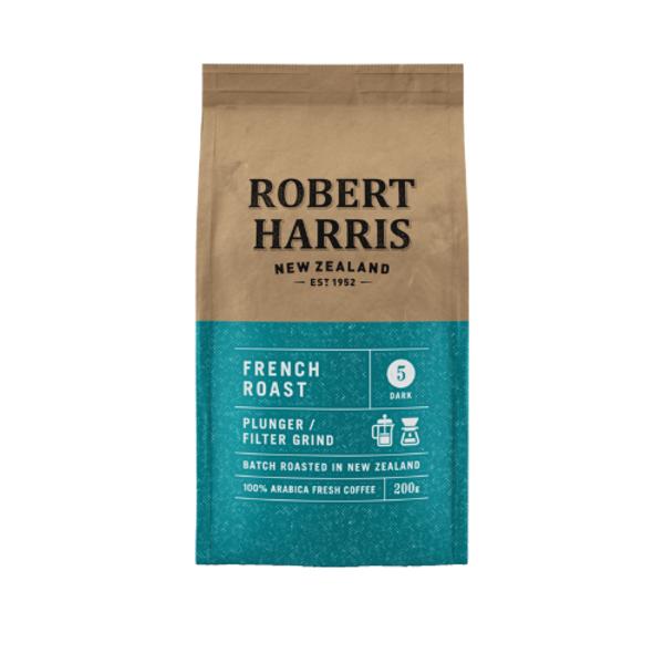Robert Harris French Roast Plunger Filter Grind 100% Fresh Arabica 200g