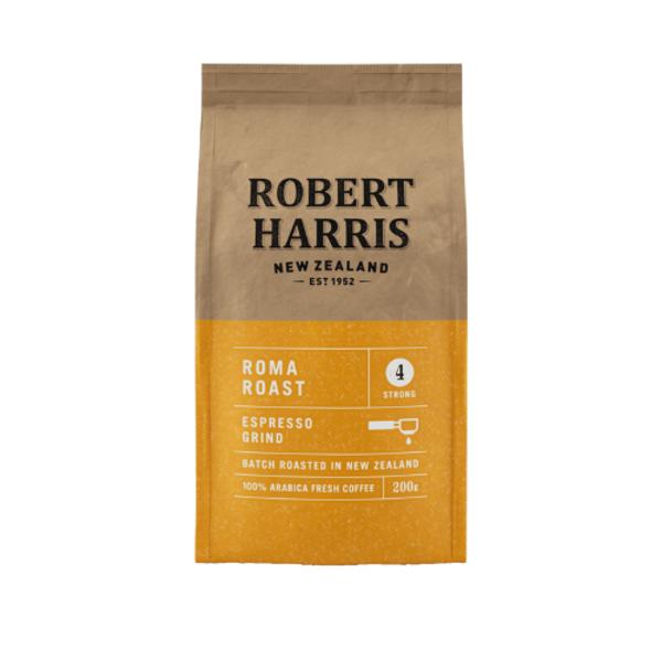 Robert Harris Roma Roast Espresso Grind 100% Fresh Arabica Coffee 200g