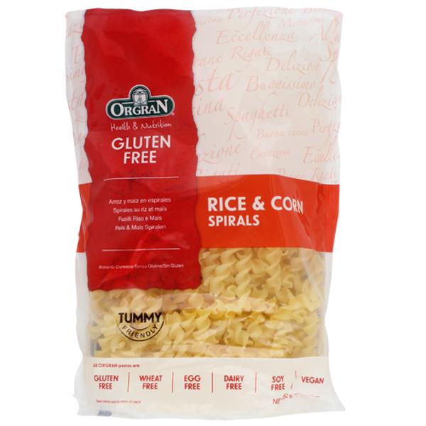 Orgran Gluten Free Rice & Corn Spirals 250g