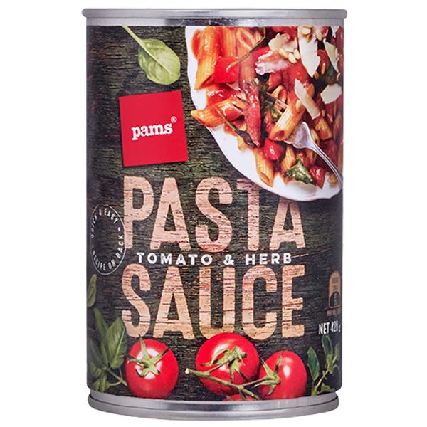 Pams Tomato & Herb Pasta Sauce 420g